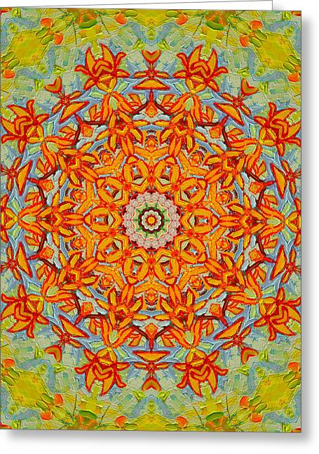 Geometric Art Greeting Cards - Joy Greeting Card by Ana Maria Edulescu