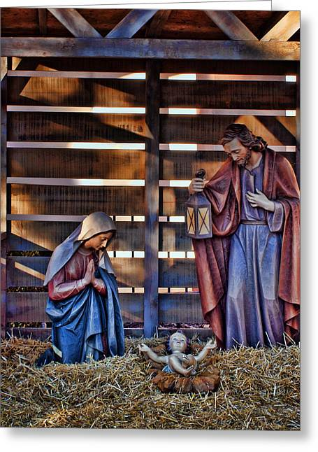 Christ Child Greeting Cards - Joy and Gladness Greeting Card by Nikolyn McDonald