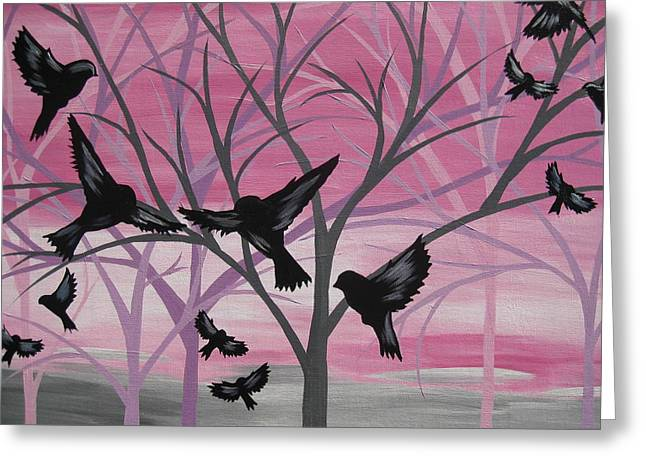 Spectrum Paintings Greeting Cards - Joy at Sunset Greeting Card by Cathy Jacobs