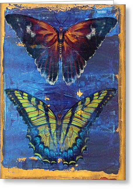Buterfly Greeting Cards - Joy Butterflies Greeting Card by Jean PLout