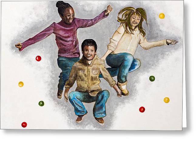 Ethnic Diversity Greeting Cards - Joy by Marcia Lillianthal Greeting Card by Sheldon Kralstein