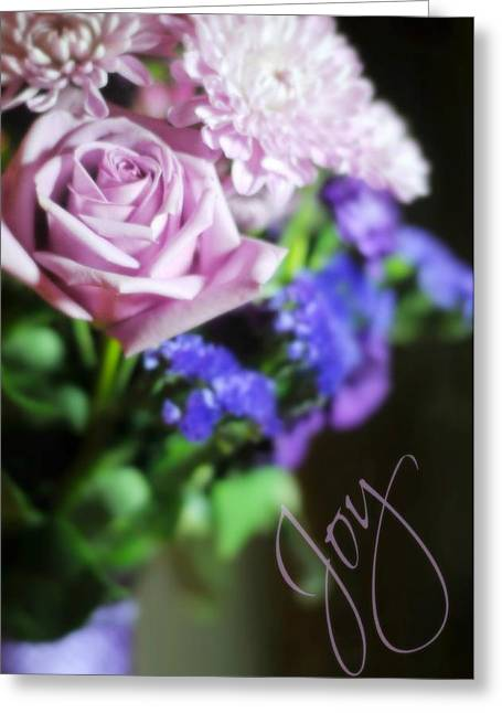 Vase Of Flowers Greeting Cards - Joy Greeting Card by Diana Angstadt