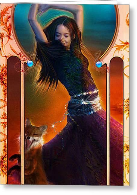 Dancing Girl Greeting Cards - Joy Faith Hope Love III Greeting Card by Aimee Stewart