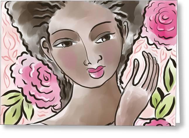 African-american Digital Art Greeting Cards - Joy In Flowers Greeting Card by Elaine Jackson