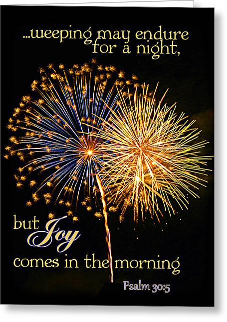 Joy In The Morning Greeting Card by Larry Bishop