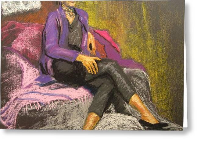 Cushions Pastels Greeting Cards - Joy Greeting Card by Katrina West