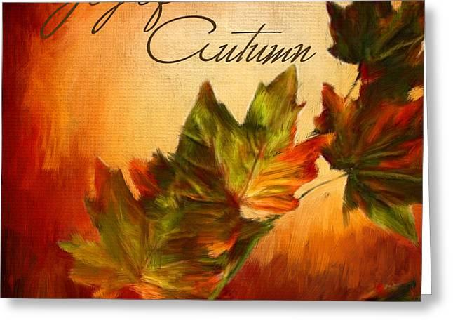 Joy Of Autumn Greeting Card by Lourry Legarde