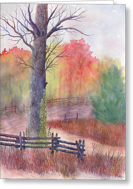 Split Rail Fence Greeting Cards - Joy of Fall Greeting Card by Ben Kiger