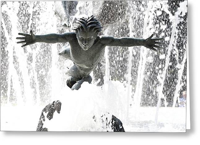 Fountain Figure Greeting Cards - Joy of Life Fountain in Hyde Park London Greeting Card by Robert Preston