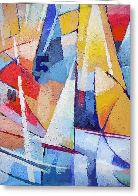 Abstract Digital Paintings Greeting Cards - Joy of Life Greeting Card by Lutz Baar
