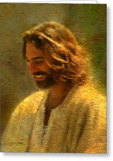 Laughing Greeting Cards - Joy of the Lord Greeting Card by Greg Olsen