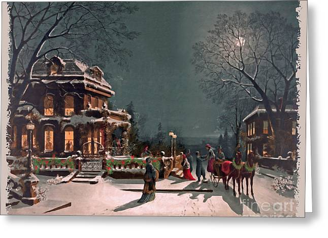 Christmas Art Greeting Cards - Joy of the Season Greeting Card by Lianne Schneider