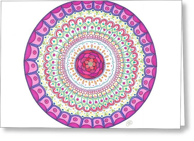 Mandala Greeting Cards - Joy Greeting Card by Signe  Beatrice