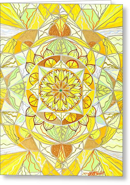 Yellow Greeting Cards - Joy Greeting Card by Teal Eye  Print Store
