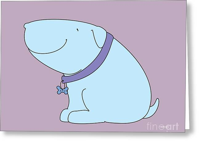 Puppies Drawings Greeting Cards - JoY The Dog Greeting Card by Kids Lolll