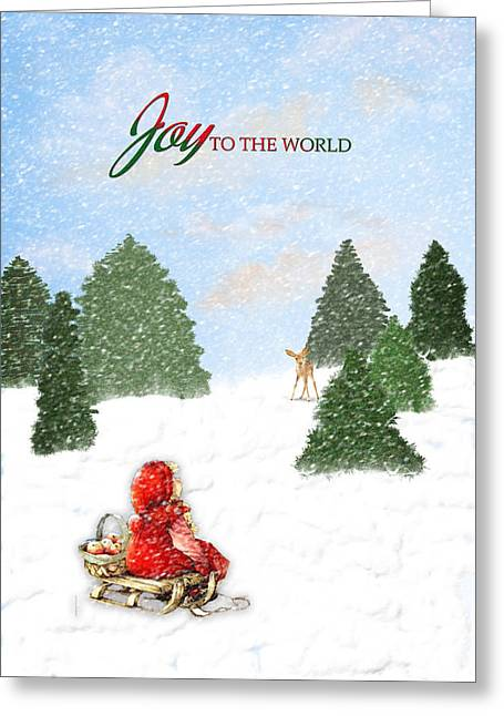 Joy To The World Greeting Cards - Joy to the World Painting Greeting Card by Mary Timman