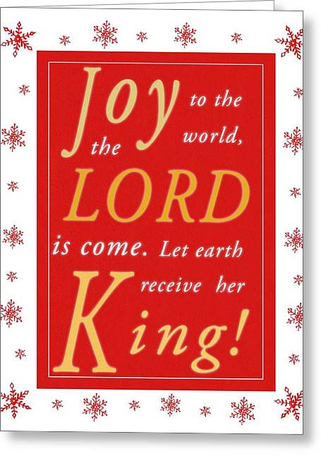 Joy To The World Greeting Cards - Joy to the World Greeting Card by Stephanie Davis
