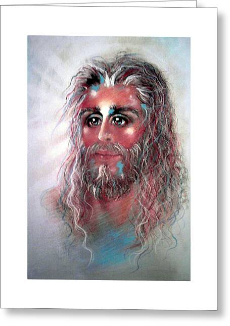 Thomas Pastels Greeting Cards - JOY Pastel Eikons of Christ Greeting Card by Vicki Thomas
