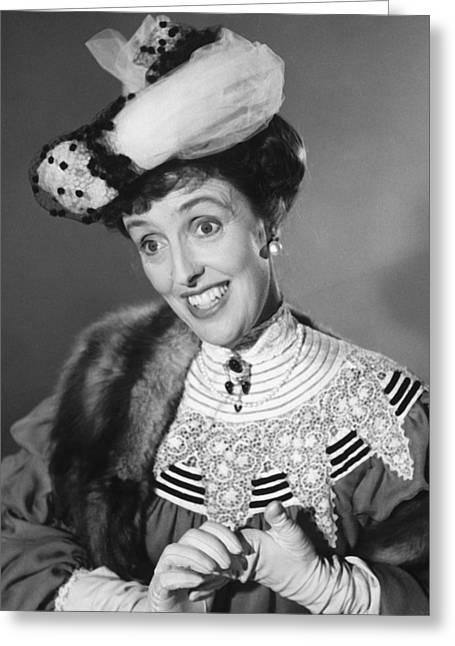 Joyce Greeting Cards - Joyce Grenfell Greeting Card by Silver Screen