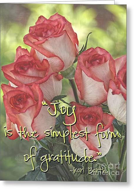 Texting Greeting Cards - Joyful Gratitude Greeting Card by Peggy J Hughes