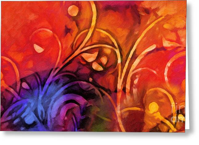 Red Abstracts Greeting Cards - Joyful Moments Greeting Card by Lutz Baar