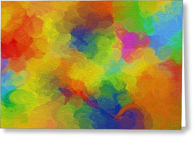 Joyful palette Greeting Card by Abstract Digital