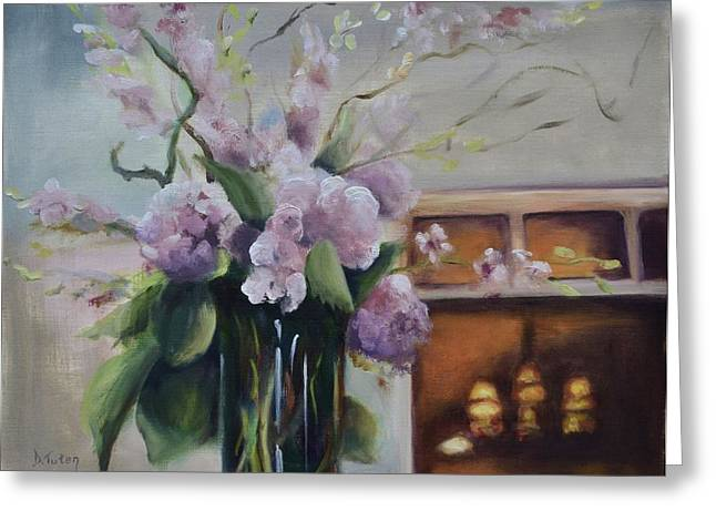 Glass Vase Greeting Cards - Joyous Occasion Greeting Card by Donna Tuten