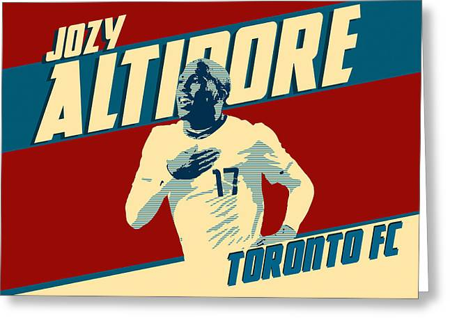 Ontario Sports Art Greeting Cards - Jozy Altidore Greeting Card by Taylan Soyturk
