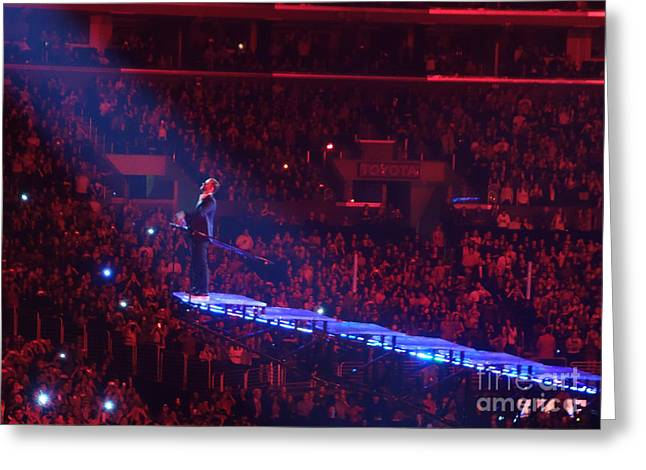 Staples Center Greeting Cards - Jt Greeting Card by Linda De La Rosa