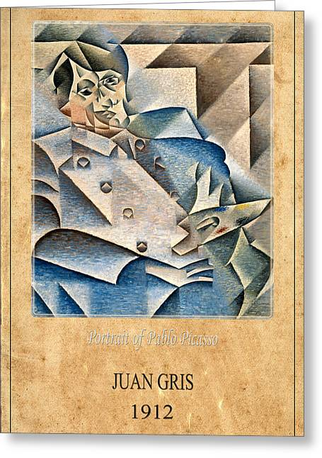 Pablo Greeting Cards - Juan Gris 1 Greeting Card by Andrew Fare