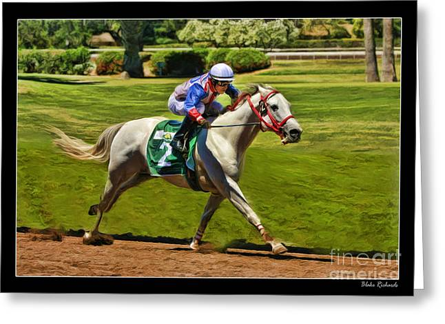 Horse Websites Greeting Cards - Juan Sanchez On Horse Sammy V  Greeting Card by Blake Richards