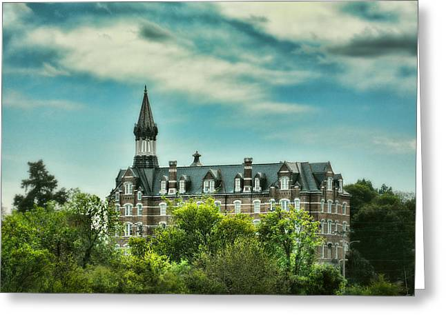 Architecture Of Nashville Greeting Cards - Jubilee Hall at Fisk University - Nashville Tennessee Greeting Card by Jai Johnson
