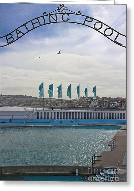 Terri Waters Greeting Cards - Jubilee Pool Penzance Cornwall Greeting Card by Terri  Waters