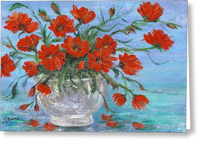 Catherine White Paintings Greeting Cards - Jubilee Poppies Greeting Card by Catherine Howard