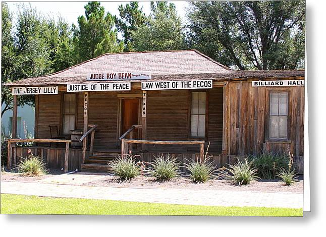 Judge Roy Bean Greeting Cards - Judge Roy Bean Greeting Card by David Byron Keener