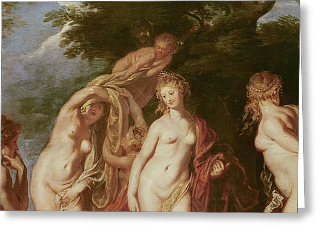 Female Body Greeting Cards - Judgement of Paris Greeting Card by Peter Paul Rubens