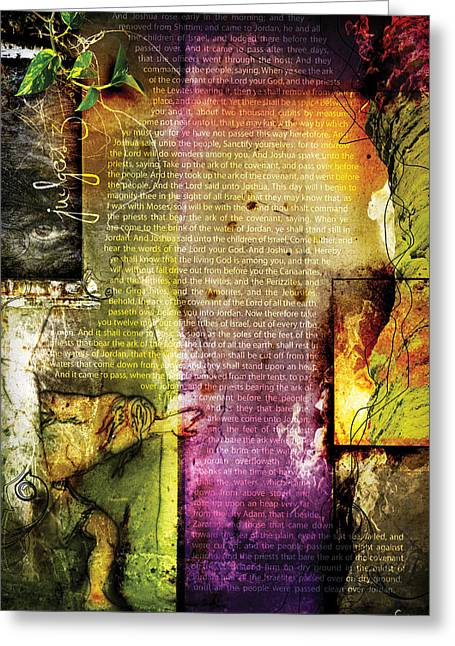 Pentecost Greeting Cards - Judges 3 Greeting Card by Switchvues Design