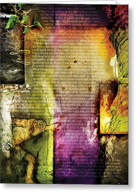Pentecost Greeting Cards - Judges 5 Greeting Card by Switchvues Design