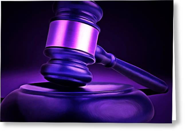 Court Room Greeting Cards - Judges Gavel 20150225m118 square Greeting Card by Wingsdomain Art and Photography