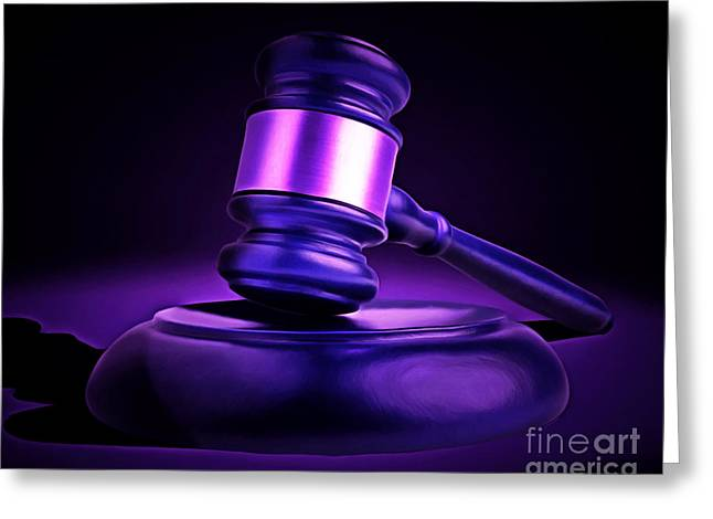 Court Room Greeting Cards - Judges Gavel 20150225m118 Greeting Card by Wingsdomain Art and Photography