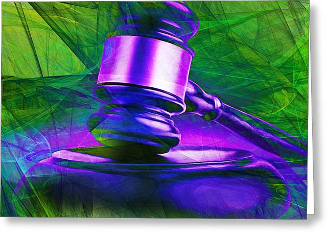 Court Room Greeting Cards - Judges Gavel 20150225m130 v2 square Greeting Card by Wingsdomain Art and Photography