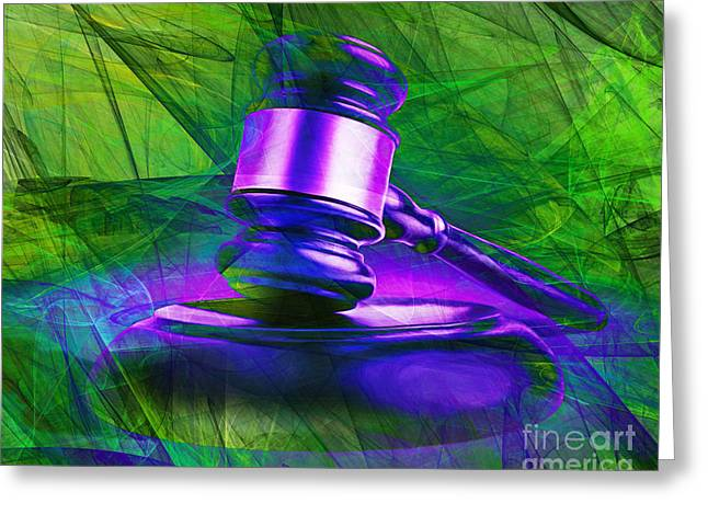 Court Room Greeting Cards - Judges Gavel 20150225m130m130 v2 Greeting Card by Wingsdomain Art and Photography