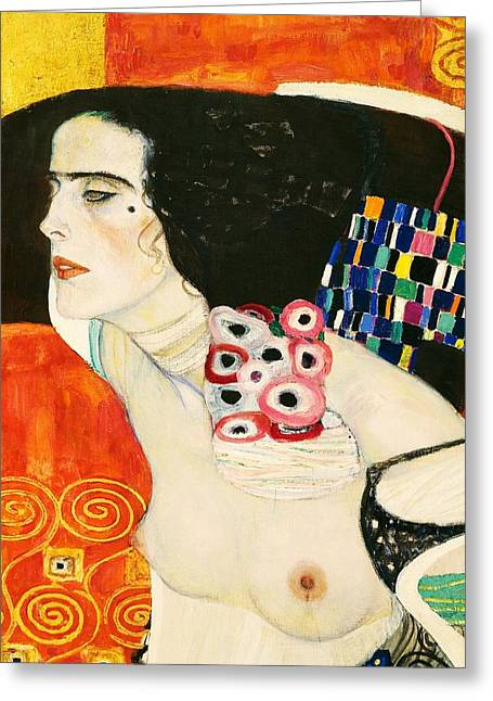 Unique Art Paintings Greeting Cards - Judith II Greeting Card by Gustav Klimt