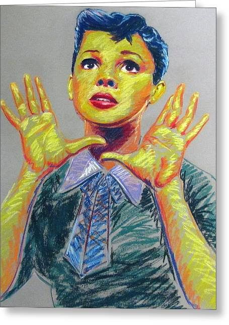 Los Angeles Pastels Greeting Cards - Judy Garland Greeting Card by Heather Bullach