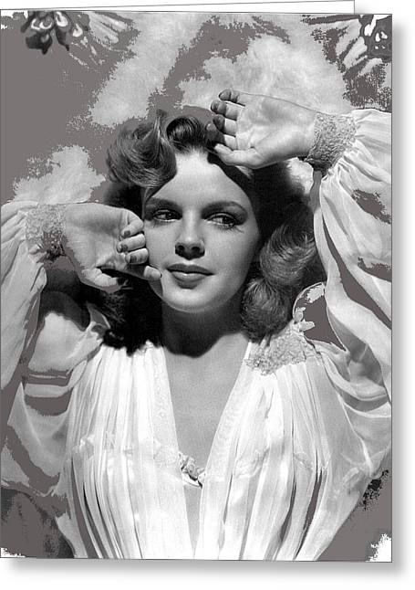Clarence Sinclair Bull Greeting Cards - Judy Garland MGM publicity photo Presenting Lily Mars Clarence Sinclair Bull photo 1943-2014 Greeting Card by David Lee Guss