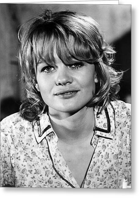 Sam Greeting Cards - Judy Geeson in Sam Hill: Who Killed Mr. Foster?  Greeting Card by Silver Screen