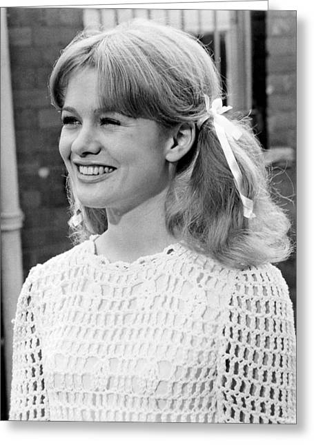 With Love Photographs Greeting Cards - Judy Geeson in To Sir, with Love  Greeting Card by Silver Screen