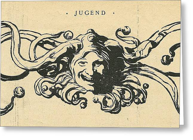 Jester Greeting Cards - Jugend Jester Greeting Card by Konni Jensen