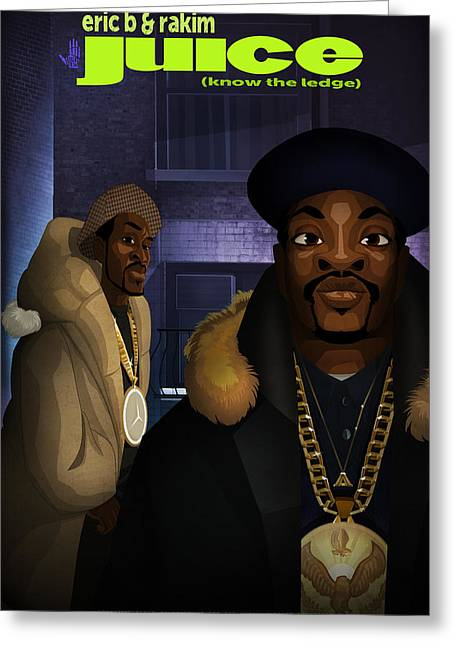 Rakim Greeting Cards - Juice Greeting Card by Nelson  Dedos Garcia