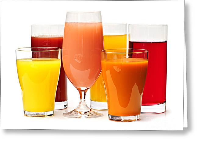 Tumbler Greeting Cards - Juices Greeting Card by Elena Elisseeva